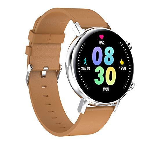 BNMY Smartwatch Mujer Hombre, Reloj Inteligente Pantalla Táctil Completa, Pulsera Impermeable IP67 De Monitor De Sueño Contador De Caloría Pulsómetros Podómetro para Android iOS,Plata