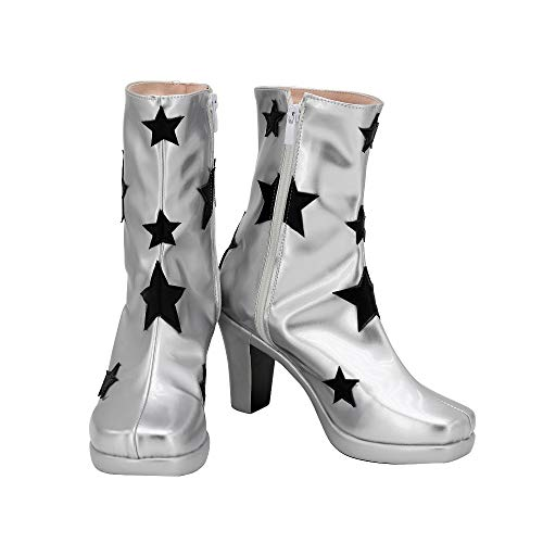 Rocketman Elton John Cosplay Stiefel Silber Schuhe High Heel Custom Made Jede Größe 48 Weibliche Größe