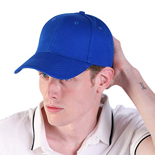 LIVACASA Baseball Cap Herren Verstellbar Basecap Luftlöchern Sonnenschutz Damen Baseballkappe Cap Unisex Mütze Baumwolle Cappy für Sport Reisen Draußen Blau