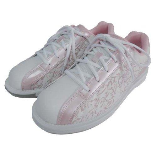 (ABS) ボウリングシューズ S-250 ホワイト・ピンク 25cm 右投げ 【ボウリング用品 靴】