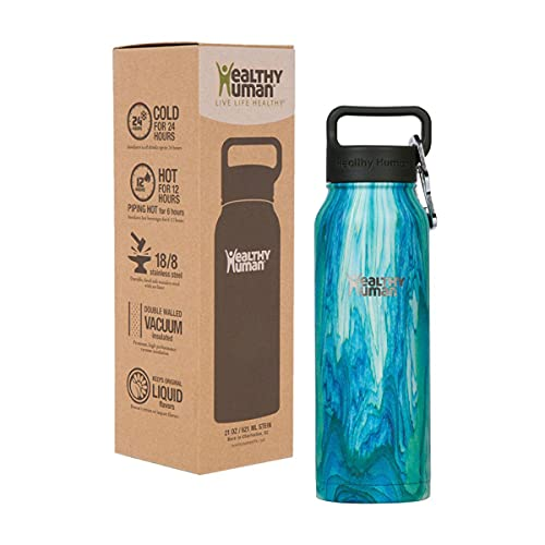 Healthy Human 23 cl isolerad vattenflaska i rostfritt stål med sejdel kall 24 timmar/varm 12 timmar – Bora Bora
