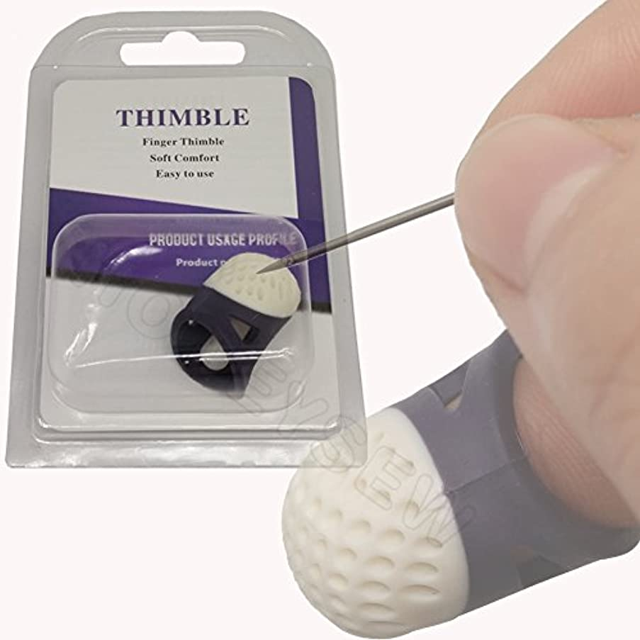 HONEYSEW Soft Comfort Thimble Two Size For Choose (Medium Size)