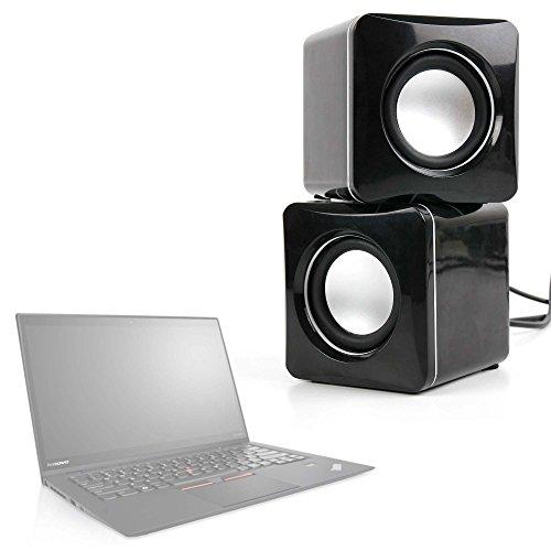DURAGADGET Altavoces Compactos para Portátil Lenovo ThinkPad X1 Carbon/LG gram 15' / Samsung Notebook 9 13.3', 9 15', 9 Pro, 9 Spin (2017) - Tamaño Mini - Conexión Mini Jack + USB