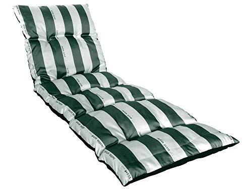 Coussin flocons pour bain de soleil Cancale vert et blanc