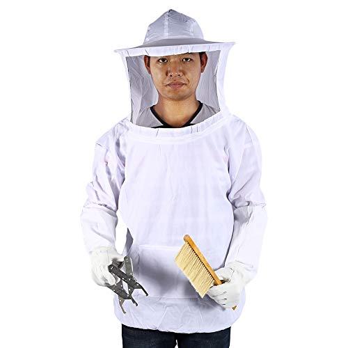 Estink Costume d'Apiculture, Costume de Voile Blouse de Apiculture Include Cadre Ruche, Gants Titulaire, Brosse d'abeille etc. Équipement Outil