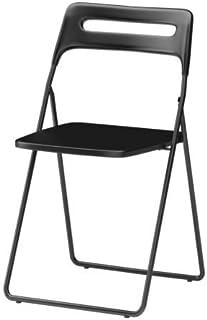 Ikea NISSE - Silla plegable, color negro