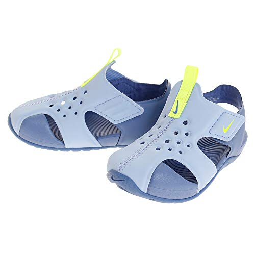 Nike Unisex-Kinder Sunray Protect 2 (td) Dusch- & Badeschuhe, Mehrfarbig (Aluminum/Volt/Indigo Storm 000), 26 EU