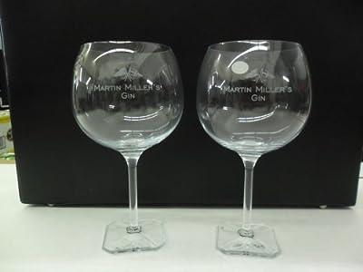 Juego de 2Martin Miller Globo de Gin Inglaterra de Islandia (Cristal de Bohemia del cóctel Martini gafas
