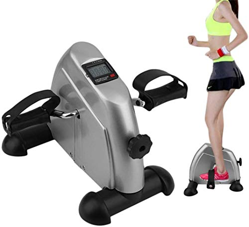 REWD Máquinas de Step para Fitness Cardio Inicio ejercitador Baño Turco Mini Pedal de Bicicleta de Ejercicios Pantalla LCD Cubierta Bici de Paso a Paso for la Tercera Edad Joven Lose Weight