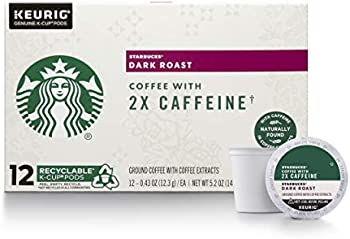 48-Count Starbucks Dark Roast K-Cup Coffee Pods with 2X Caffeine