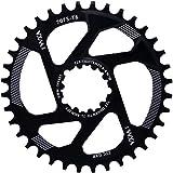YBEKI - Corona per Bicicletta 30T 32T 34T 36T 38T Stretta Ampia per GXP XX1 X9 XO X01 CNC Offset 3mm 6mm Montaggio Diretto Guarnitura (Nero 6mm Compensare, 36t)