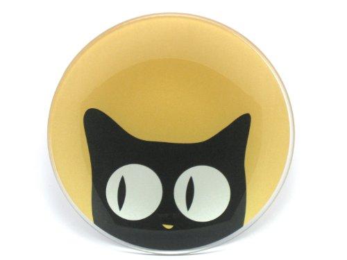 Cat Eyes Glass Plate Gold Looking Sideways by MIYA