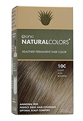 ONC NATURALCOLORS Healthy Permanent Hair Dye with certified organic ingredients, Ammonia free, Vegan Friendly, 100% Gray coverage
