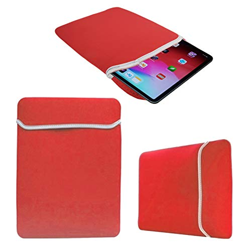 Soft Slim Neoprene Sleeve Pouch for e-Reader eBook Android Tablet PC MID Notebook Protective Case Cover (Red, 13-15 Inch)