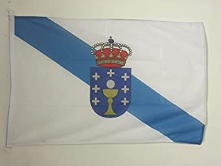 AZ FLAG Galicia Nautical Flag 18'' x 12'' - Spanish Region of Galicia Flags 30 x 45 cm - Banner 12x18 in for Boat