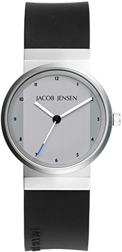 JACOB JENSEN Damen-Armbanduhr JACOB JENSEN NEW SERIES ITEM NO. 741 Analog Quarz Kautschuk JACOB JENSEN NEW SERIES ITEM NO. 741
