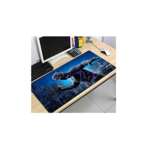 Super Hero Print Large Black Keyboard Mat Gaming Mouse Pad Desk Mat Table Mat 1223'