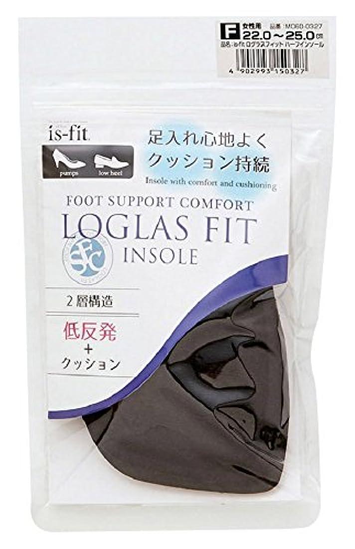 回転するホバー休憩モリト is-fit(イズ?フィット) ログラスフィット ハーフインソール 女性用 フリーサイズ (22.0~25.0cm)