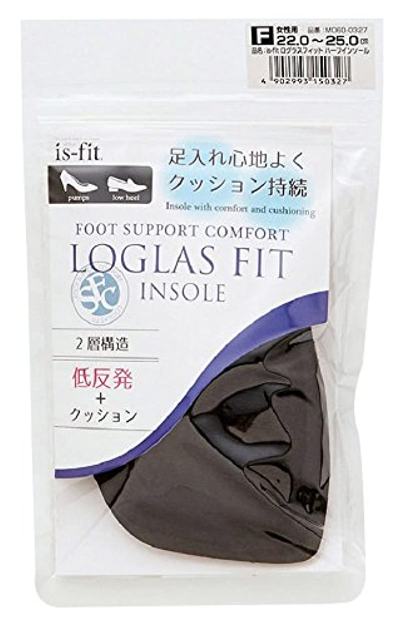 概念訪問ベースモリト is-fit(イズ?フィット) ログラスフィット ハーフインソール 女性用 フリーサイズ (22.0~25.0cm)