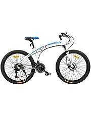 دراجة قابلة للطي من فتنس مينتس، باللون الابيض، طراز FM-F26-02S-WH