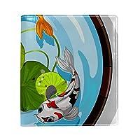 ブックカバー a5 金魚 ボウル蓮 きれい 文庫 PUレザー ファイル オフィス用品 読書 文庫判 資料 日記 収納入れ 高級感 耐久性 雑貨 プレゼント 機能性 耐久性 軽量16x22cm