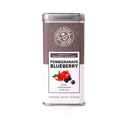 Coffee Bean & Tea Leaf Pomegranate Blueberry Green, Oolong, Black Teas - 20 filter bags in Tin, 20-Count