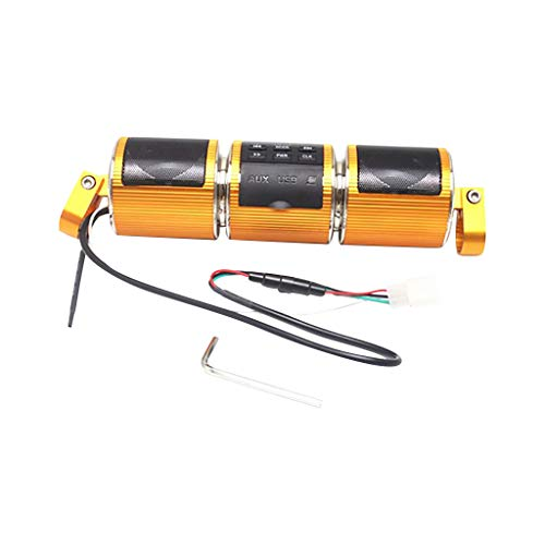 D FBGood RD8 - Altavoces estéreo para moto, impermeable, Bluetooth, para montar...