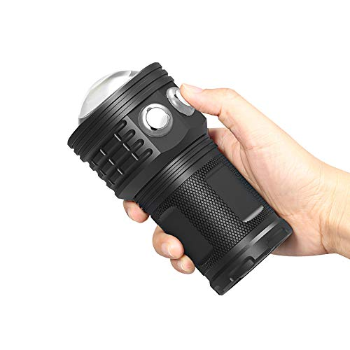 WOTR Linterna de Buceo, Buceo COB IPX8 Impermeable luz Submarino Submarino Buceo 80m Linterna de Mano Fotografía de la antorcha de vídeo Iluminación luz de la lámpara
