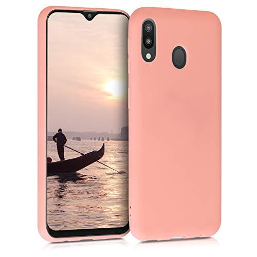 kwmobile Hülle kompatibel mit Samsung Galaxy M20 (2019) - Hülle Handyhülle - Handy Hülle in Koralle matt
