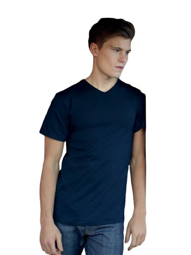 Fruite of the Loom Valueweight V-Neck T-Shirt, vers. Farben XL,Deep Navy