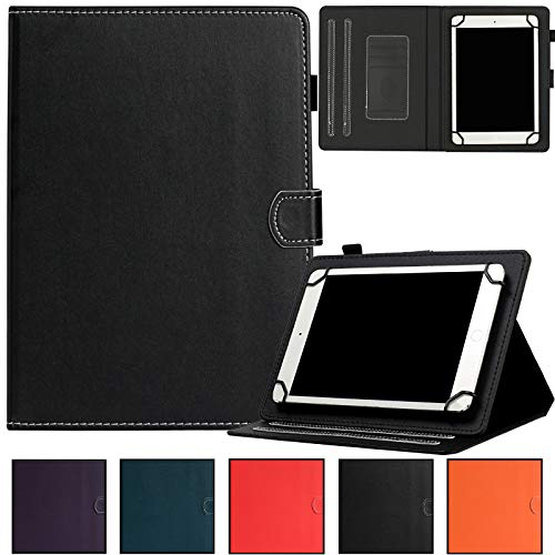 Universal Case for 9.0-10.5 inch Tablet,Artyond PU Leather Card Slot Wallet Folio Stand Cover for Apple/Samsung/Kindle/Huawei/Lenovo/Android/Dragon Touch 9.7 9.6 10.1 10.5 Inch Tablet (Black)