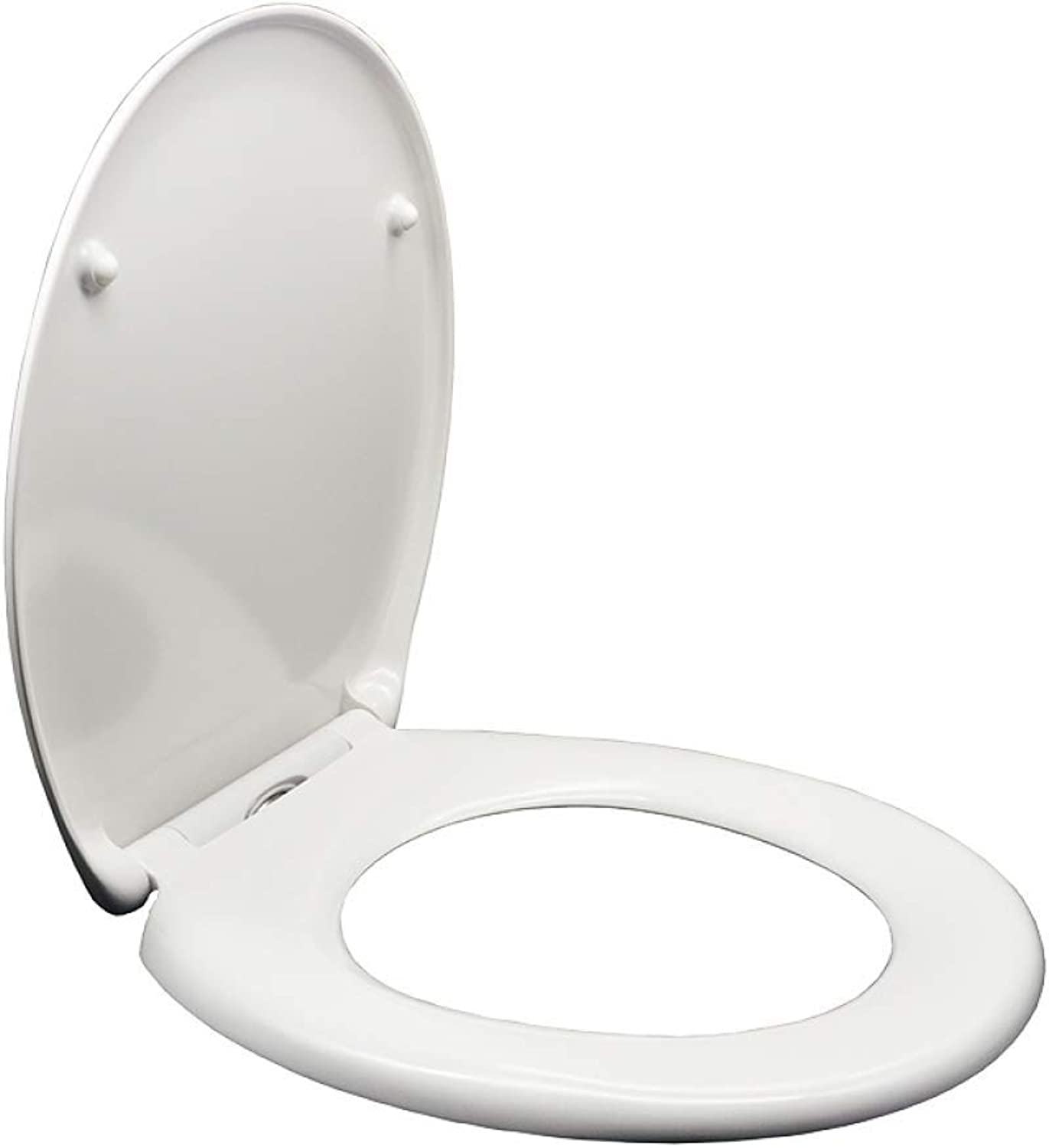 Toilet Lid & Tank Covers U O Shape Square Toilet Lid With Slow Down Top Fixed Toilet Seat Cover For Family Anti-Bacterial Toilet Seat (color   White, Size   D)