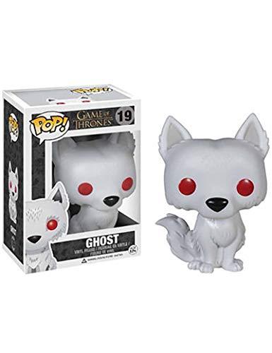 ZCBHSD Funko Ghost Game of Thrones Direwolf Bobble Head - Figura de Vinilo para coleccionistas de Lobo Dire, Multicolor