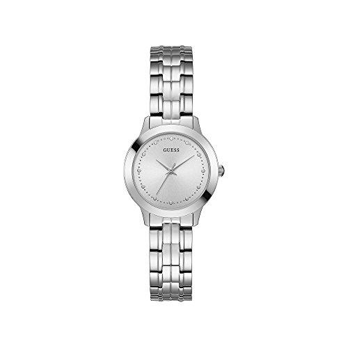 Guess Reloj Analógico para Mujer de Cuarzo con Correa en Acero Inoxidable W0989L1