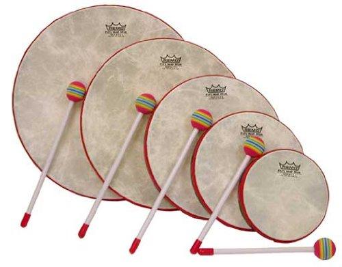 Remo KD-0500-01 Frame Drum Kids Percussion, Rahmentrommel-Set, Fabric Rain Forest,(6 Zoll), (8 Zoll), (10 Zoll), (12 Zoll), (14 Zoll), Handtrommel für Drum Circle