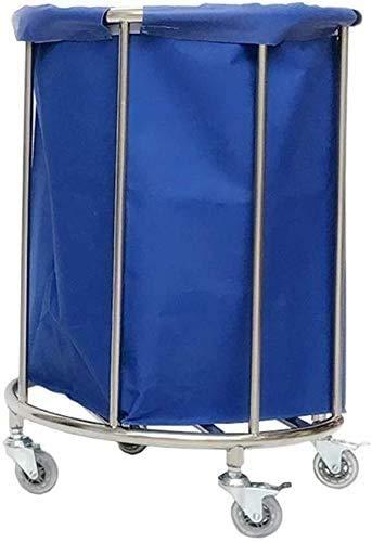 BDD Wagen, Blauer Zimmerservice Wäschewagen Wäschekleidung Organisator Sortierbehälter, Medizinwagen Schwerlasthotel Rollender Wäschesortierer Wagen Auf Rädern