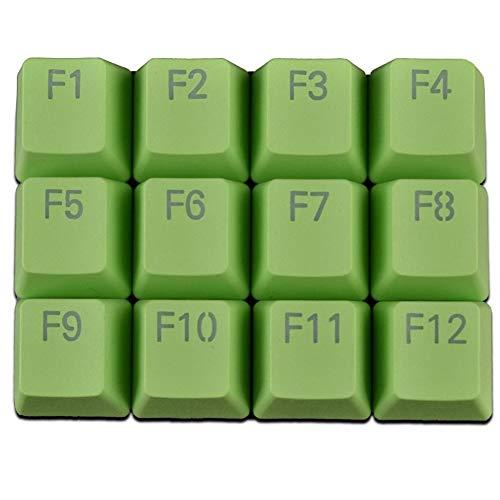Keycaps PBT retroilluminato Copritasti con apertura F1 ~ F12 12 Caps Keyset Cherry MX principali Con Copritasti con apertura Pulller for MX switch retroilluminata gioco Tastiera meccanica