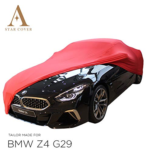 AUTOABDECKUNG ROT PASSEND FÜR BMW Z4 (G29) GANZGARAGE INNEN SCHUTZHÜLLE ABDECKPLANE SCHUTZDECKE Cover