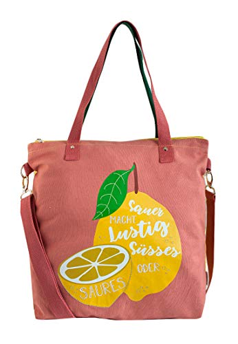 Adelheid Süsses oder Saures Einkaufstasche, Farbe:puderrosa, Größe:ohne Größe