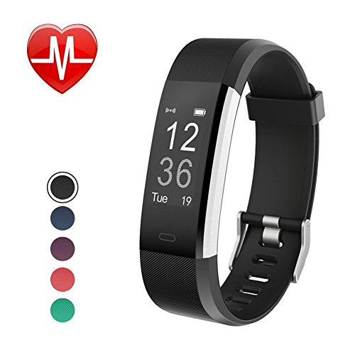 Jeestam Fitness Tracker with Heart Rate Monitor Sleep Monitor, IP67 Waterproof Activity Tracker with GPS Calorie Counter, Smart Watch Bracelet Pedometer Wristband for Android and iOS Phone (Black)