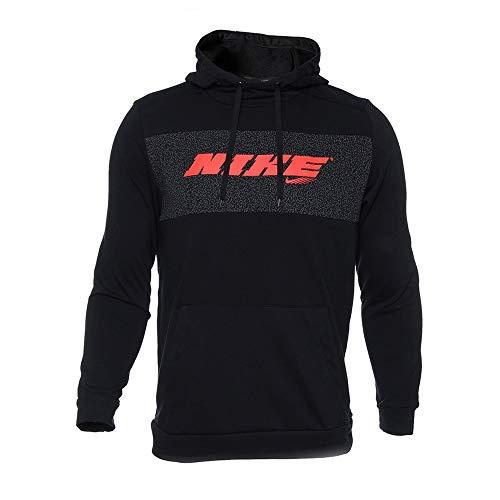 Nike CZ1484-010 M NK Dry HD PO FLC SC Energy Felpa Uomo Black/(Bright Crimson) L