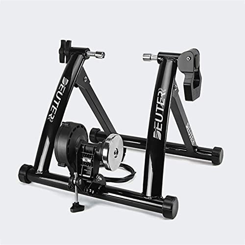 Soporte para Entrenador De Bicicleta, Soporte Magnético De Acero Plegable para Entrenador De Bicicleta con 8 Niveles De Resistencia, para Bicicletas De Carretera Y Montaña
