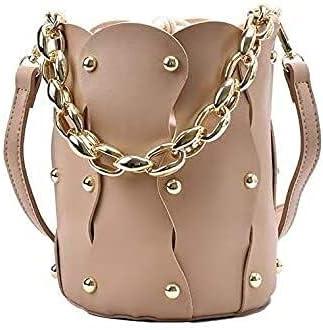 Women's Fashion Handbag NEW before selling ☆ Multi Ultra-Cheap Deals Colors Chain Stra Bucket Bag Metal