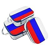 Juego de 3 Cubos de Embalaje de la Bandera de Rusia