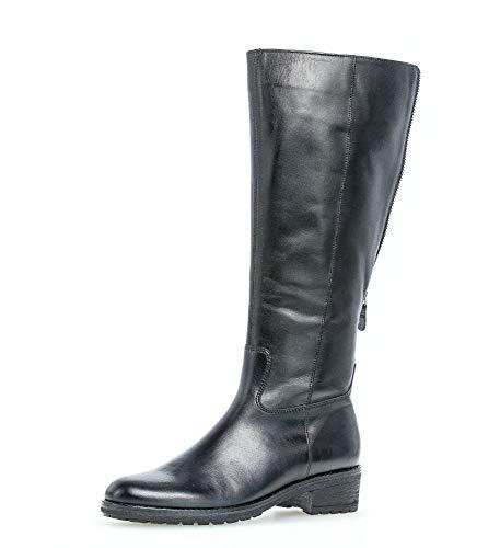 Gabor Damen Stiefel,Reißverschluss,Schaftweite M Vario, Women Woman Boots Stiefel Winterstiefel Winterschuhe langstiefel,schwarz,41 EU / 7.5 UK