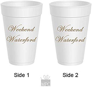 Styrofoam Party Cups - Weekend Waterford