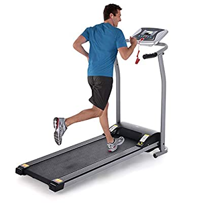 Folding Treadmill for Home, Electric Motorized Running Machine with LCD Monitor & Pulse Grip, Portable Compact Foldable Jogging Walking Treadmills for Home Office Gym Fitness Workout