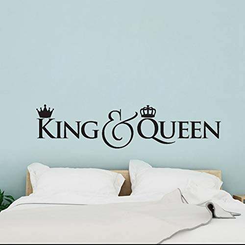 Cabecero diy vinilo tatuajes de pared rey y reina corona ...