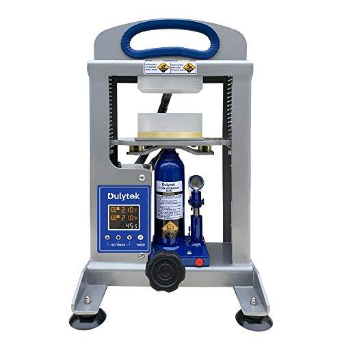 "Dulytek DHP5 Hydraulic Heat Press, 5 Ton Pressing Force, Dual Heat 3"" x 4"" Plates - Precise Two-Channel Control Panel"