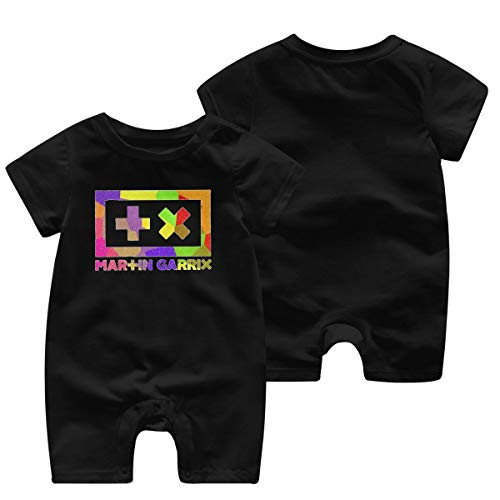 Martin-Garrix Music Band(1) Body bébé à Manches Courtes pour bébé pour bébé,Fille(12M,Noir)